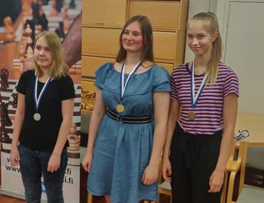 SM2019 naisten mitalistit